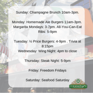 Good Food Every Day Of The Week - Murphy's Grand Irish Pub